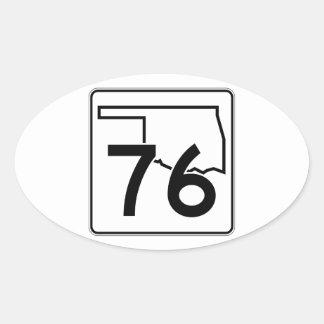 Oklahoma State Highway 76 Oval Sticker