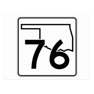 Oklahoma State Highway 76 Postcard