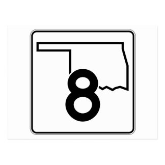 Oklahoma State Highway 8 Postcard