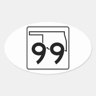 Oklahoma State Highway 99 Oval Sticker