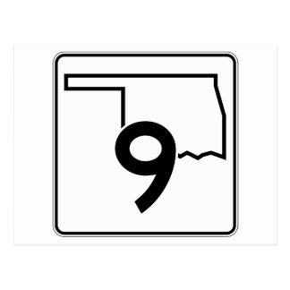 Oklahoma State Highway 9 Postcard