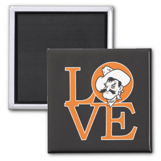 Oklahoma State Love 2 Inch Square Magnet