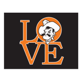 Oklahoma State Love Postcard