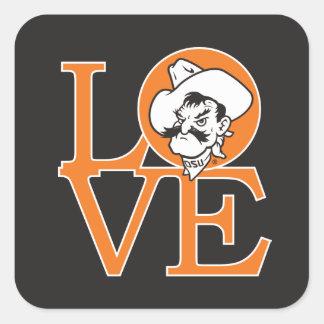 Oklahoma State Love Square Sticker