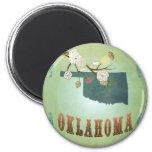 Oklahoma State Map – Green Fridge Magnet