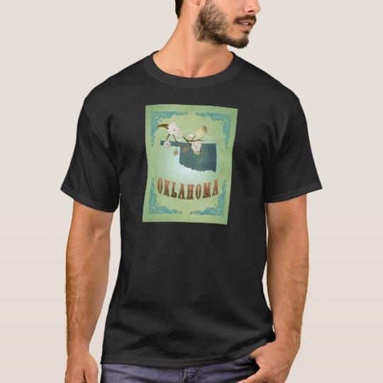 Oklahoma State Map – Green T-Shirt