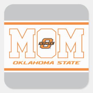 Oklahoma State Mom Square Sticker