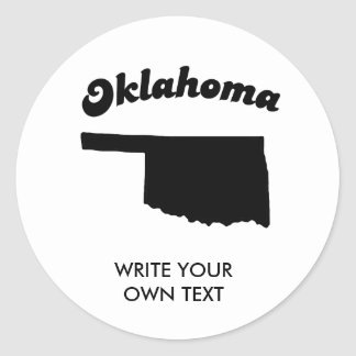 OKLAHOMA STATE MOTTO T-SHIRT CLASSIC ROUND STICKER