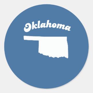 OKLAHOMA STATE MOTTO T-SHIRT T-shirt Classic Round Sticker