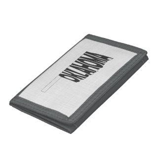 Oklahoma State Name Word Art Black Tri-fold Wallet