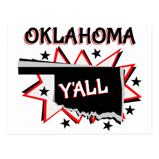 Oklahoma State Pride Y'all Postcard