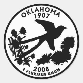Oklahoma State Quarter Classic Round Sticker