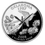 Oklahoma State Quarter Clock