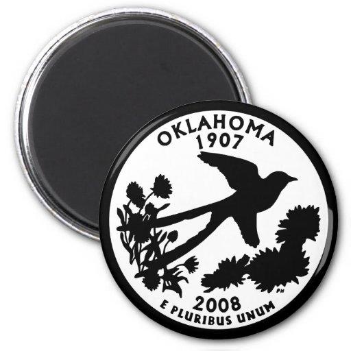 Oklahoma State Quarter Fridge Magnets