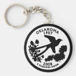 Oklahoma State Quarter Keychains