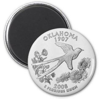 Oklahoma State Quarter Magnet