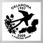 Oklahoma State Quarter Print