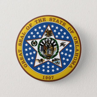 Oklahoma state seal america republic symbol flag button