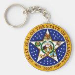 Oklahoma State Seal Basic Round Button Keychain