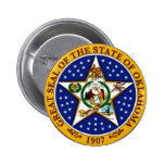 Oklahoma State Seal Pinback Buttons