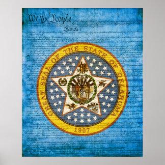 Oklahoma State Seal Poster