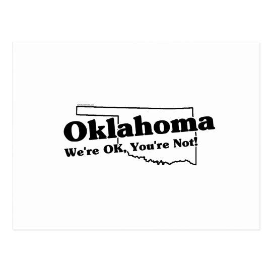 oklahoma state slogan postcard zazzle com