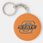 Oklahoma State University Basic Round Button Keychain