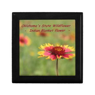 Oklahoma State Wildflower Jewelry Box