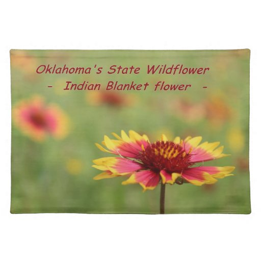 Oklahoma State Wildflower Placemat Zazzle