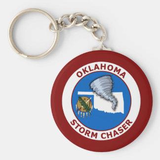 Oklahoma Storm Chaser Basic Round Button Keychain