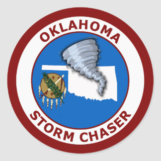 Oklahoma Storm Chaser Classic Round Sticker
