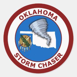 Oklahoma Storm Chaser Classic Round Sticker
