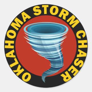 Oklahoma Storm Chaser Round Sticker