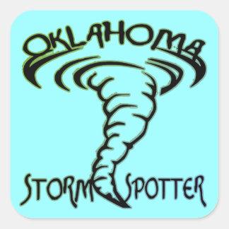 Oklahoma Storm Spotter Square Sticker
