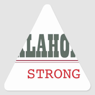 Oklahoma Strong Triangle Sticker
