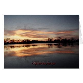Oklahoma Sunset Card