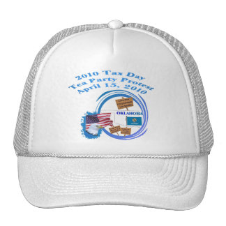Oklahoma Tax Day Tea Party Protest Mesh Hat
