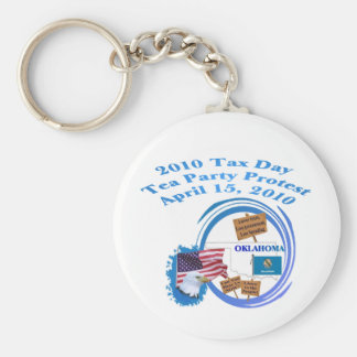 Oklahoma Tax Day Tea Party Protest Keychain