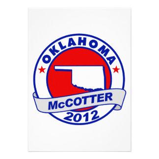 Oklahoma Thad McCotter Custom Invites