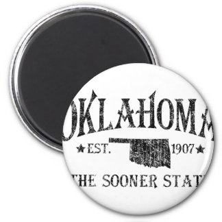 Oklahoma - The Sooner State 2 Inch Round Magnet