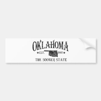 Oklahoma - The Sooner State Bumper Sticker