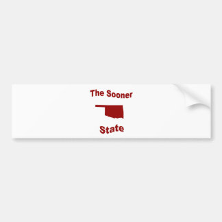 Oklahoma: The Sooner State Car Bumper Sticker