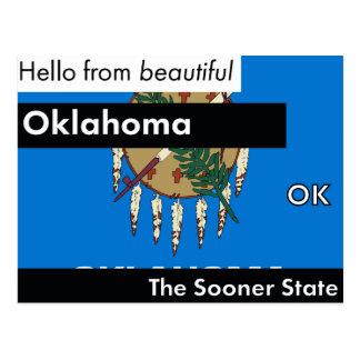 Oklahoma The Sooner State Postcard