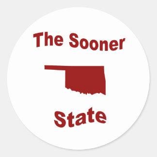 Oklahoma: The Sooner State Classic Round Sticker