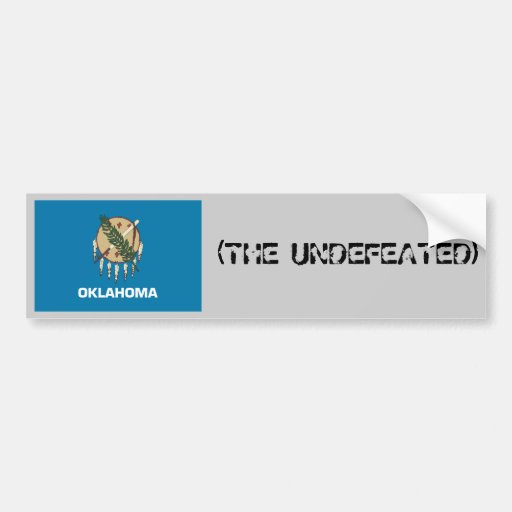 OKLAHOMA(THE UNDEFEATED) BUMPER STICKERS