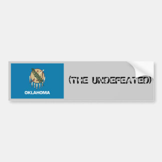 OKLAHOMA(THE UNDEFEATED) CAR BUMPER STICKER