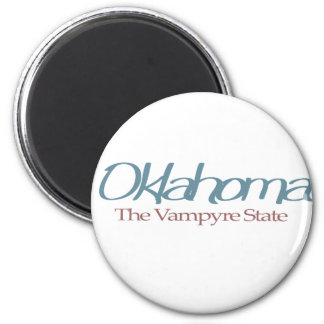 """Oklahoma """"The Vampyre State"""" 2 Inch Round Magnet"""
