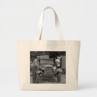 Oklahoma to California, 1930s Canvas Bags