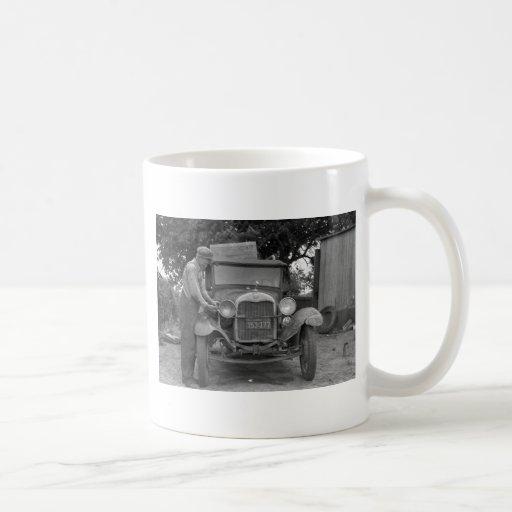 Oklahoma to California, 1930s Coffee Mugs