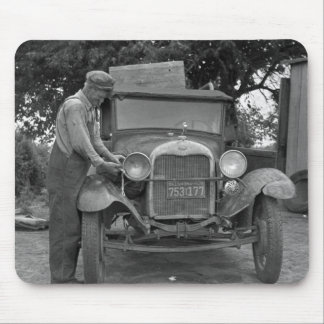 Oklahoma to California, 1930s Mouse Pad